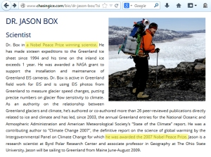 Jason BOX, Geological Survey of Denmark & Greenland