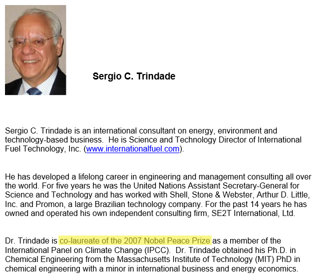 Sergio TRINDADE, Science & Technology Director, International Fuel Technology