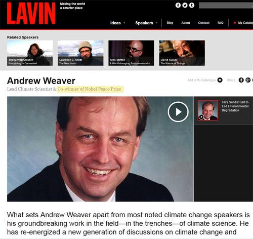 Andrew WEAVER, Professor, University of Victoria